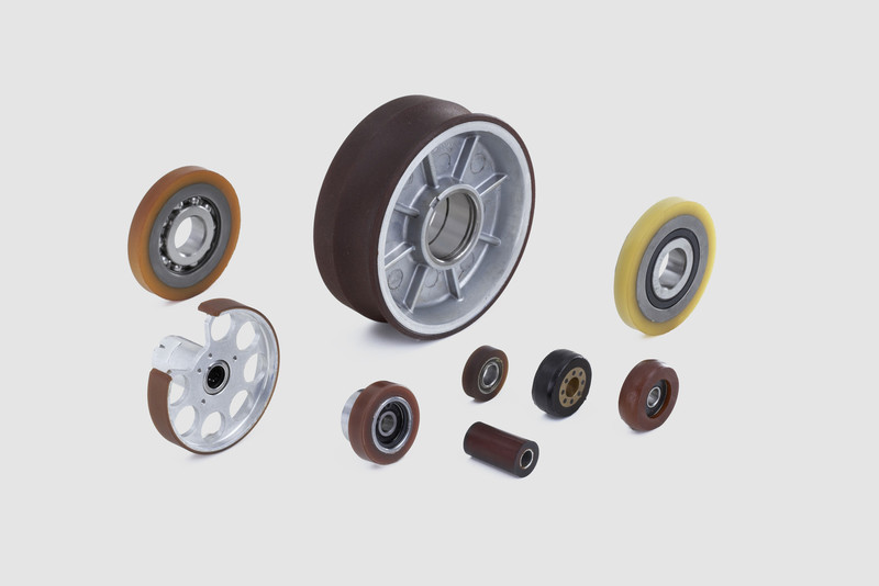 QUADRIGA Wheels / castors / rollers: High load bearing strength and abrasion resistance for special applications