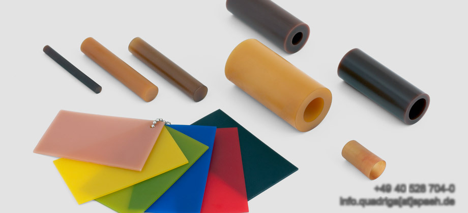 QUADRIGA materials Polyurethane and Vulkollan