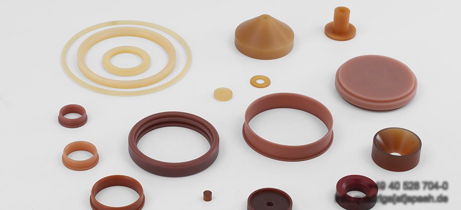 QUADRIGA turning and milling parts made of Polyurethane and Vulkollan